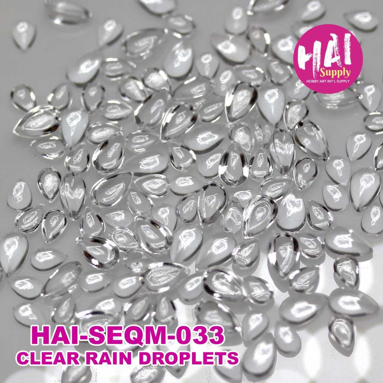 Clear Rain Droplets, HAI Sequins -