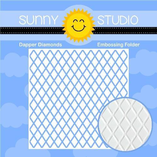 Dapper Diamonds, Sunny Studio Embossing Folder - 797648686528