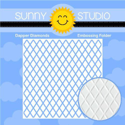 Dapper Diamonds, Sunny Studio Embossing Folder - 797648686528