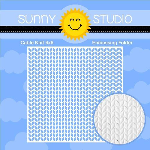 Cable Knit, Sunny Studio Embossing Folder - 797648686535