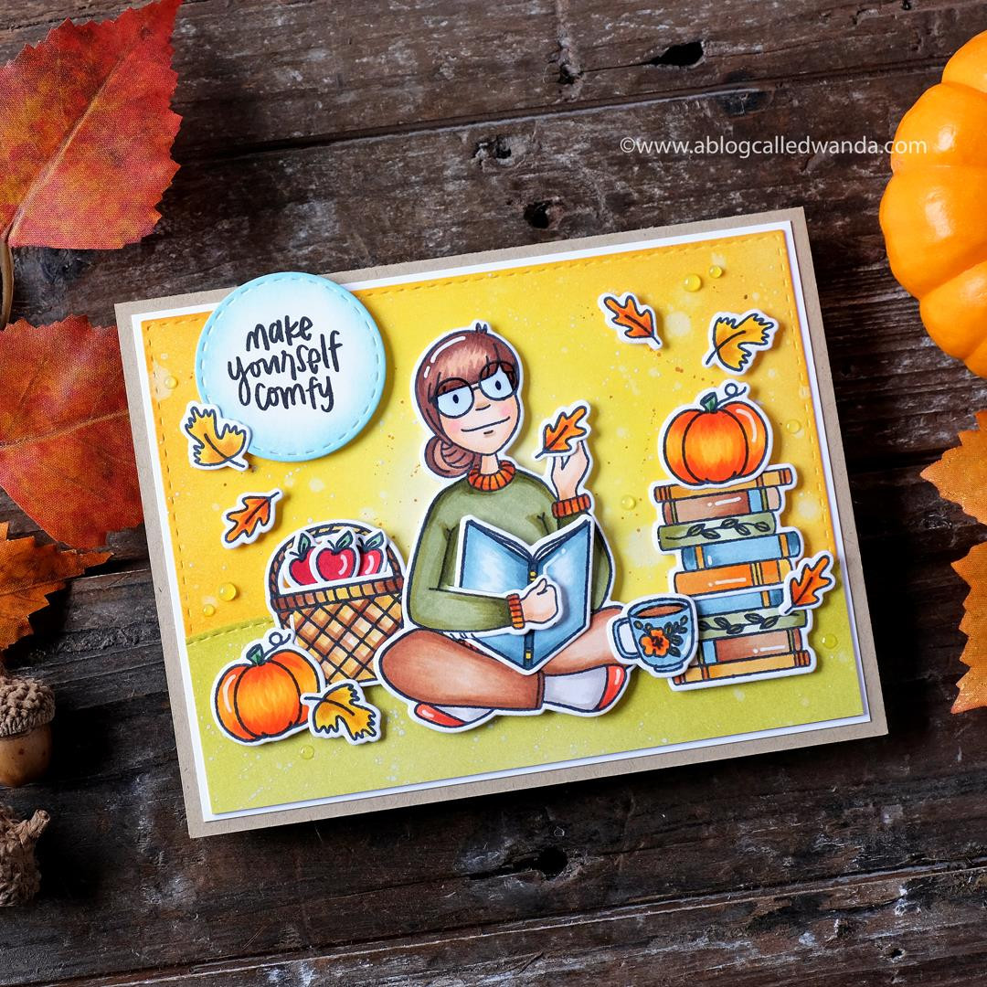 Leading Ladies - Bookworm Lady By Brandi Kincaid, Essentials By Ellen Clear Stamps -