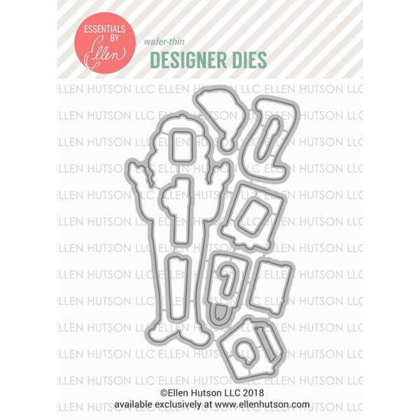 Leading Ladies - Holiday Shopper Lady By Brandi Kincaid, Essentials By Ellen Designer Dies -