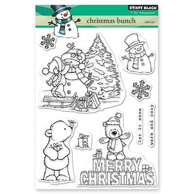 Christmas Bunch, Penny Black Clear Stamps - 759668305209