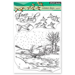 Winter Days, Penny Black Clear Stamps - 759668305179