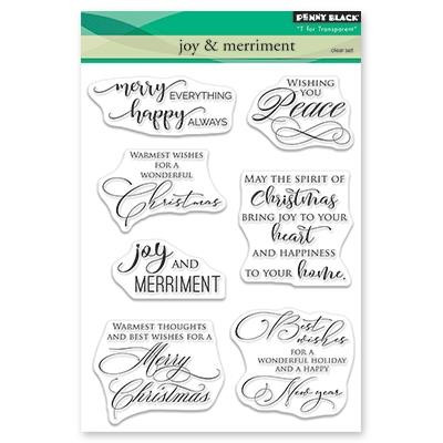 Joy & Merriment, Penny Black Clear Stamps - 759668305018