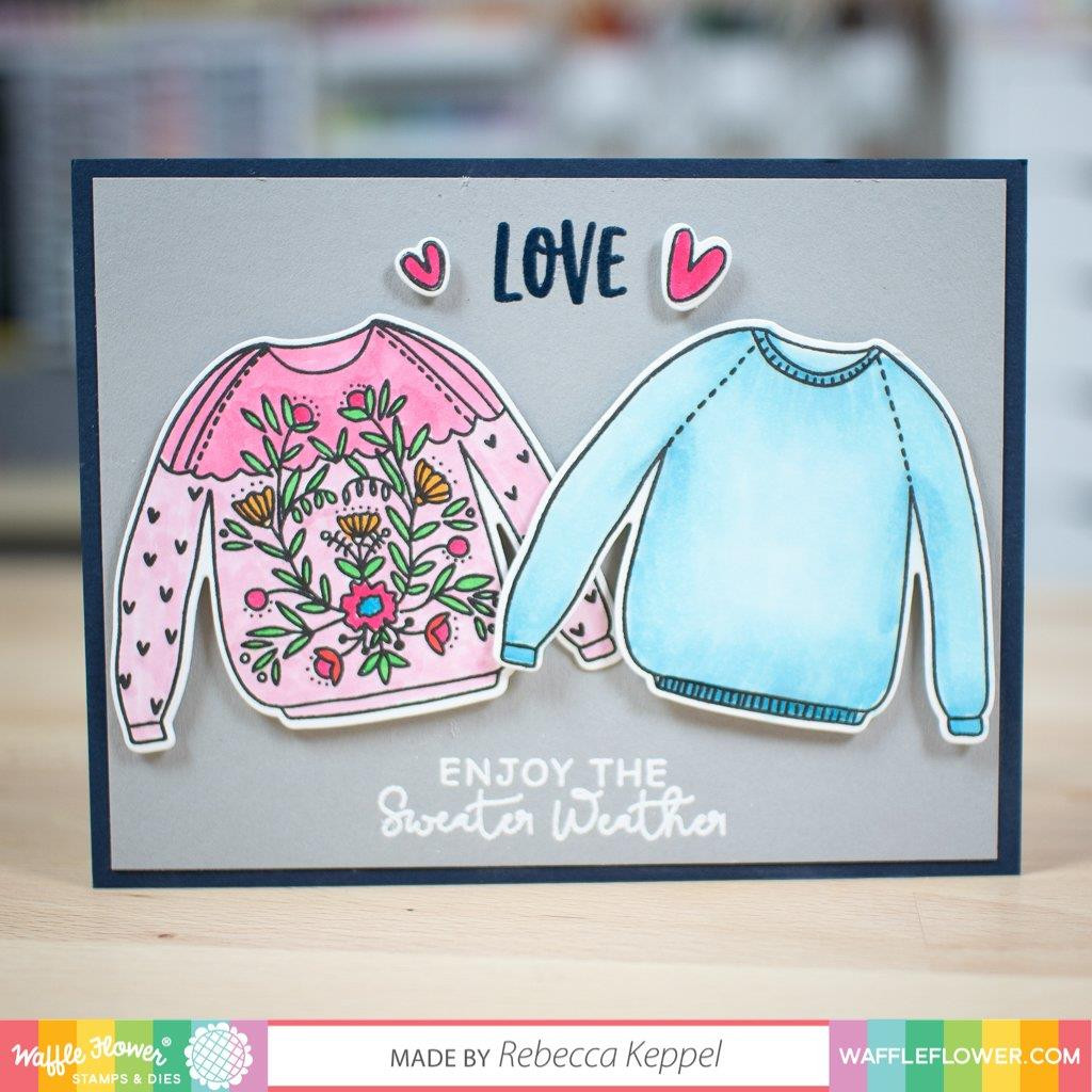 Sweater Weather, Waffle Flower Stamp & Die Combo - 653341241238