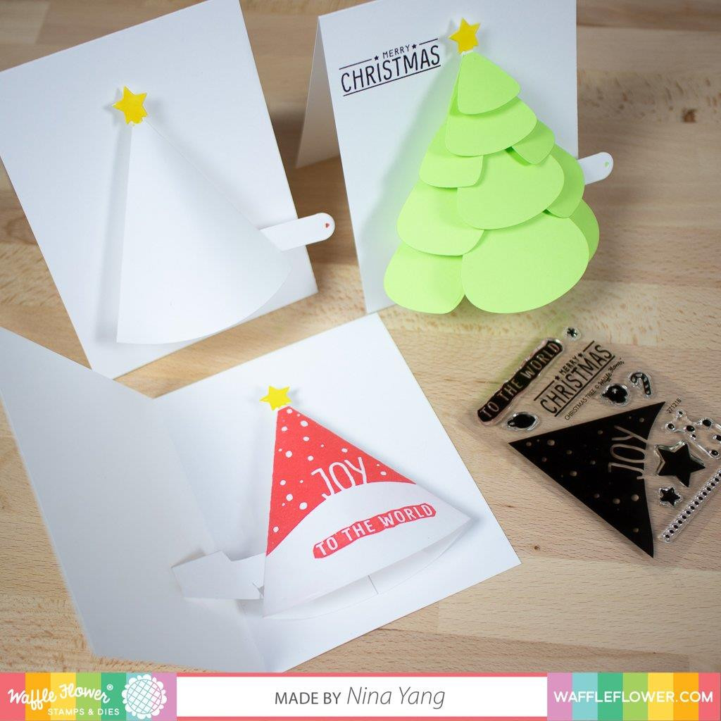 Christmas Tree, Waffle Flower Clear Stamps - 653341242730