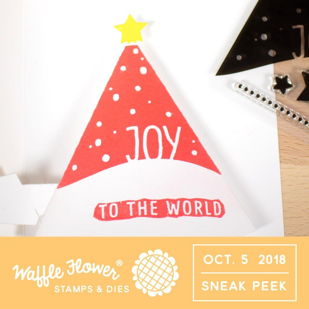 Christmas Tree, Waffle Flower Stamp & Die Combo - 653341242334