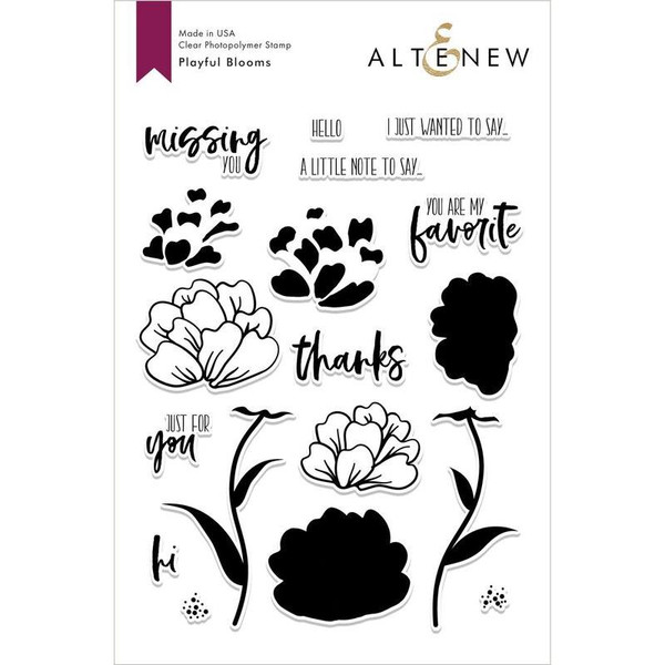 Playful Blooms, Altenew Clear Stamps - 704831293920