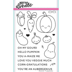 Veggie Patch, Heffy Doodle Clear Stamps - 5060540220813