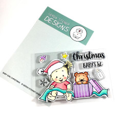 Baby Girl Christmas, Gerda Steiner Designs Clear Stamps -