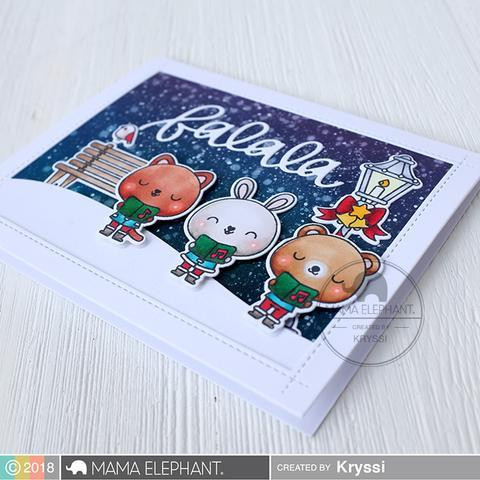 Let's Go Caroling, Mama Elephant Clear Stamps -