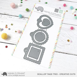 Scallop Tags Trio, Mama Elephant Creative Cuts -