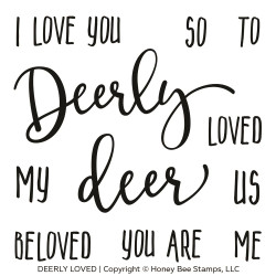 Deerly Loved, Honey Bee Clear Stamps - 652827598989