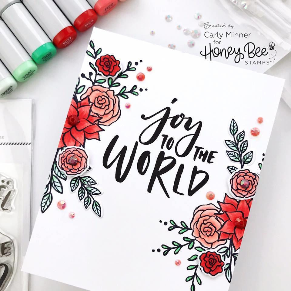 Rejoice, Honey Bee Clear Stamps - 652827598996