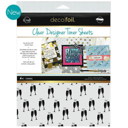 iCraft Deco Foil Clear Designer Toner Sheets, Cheers - 000943055310