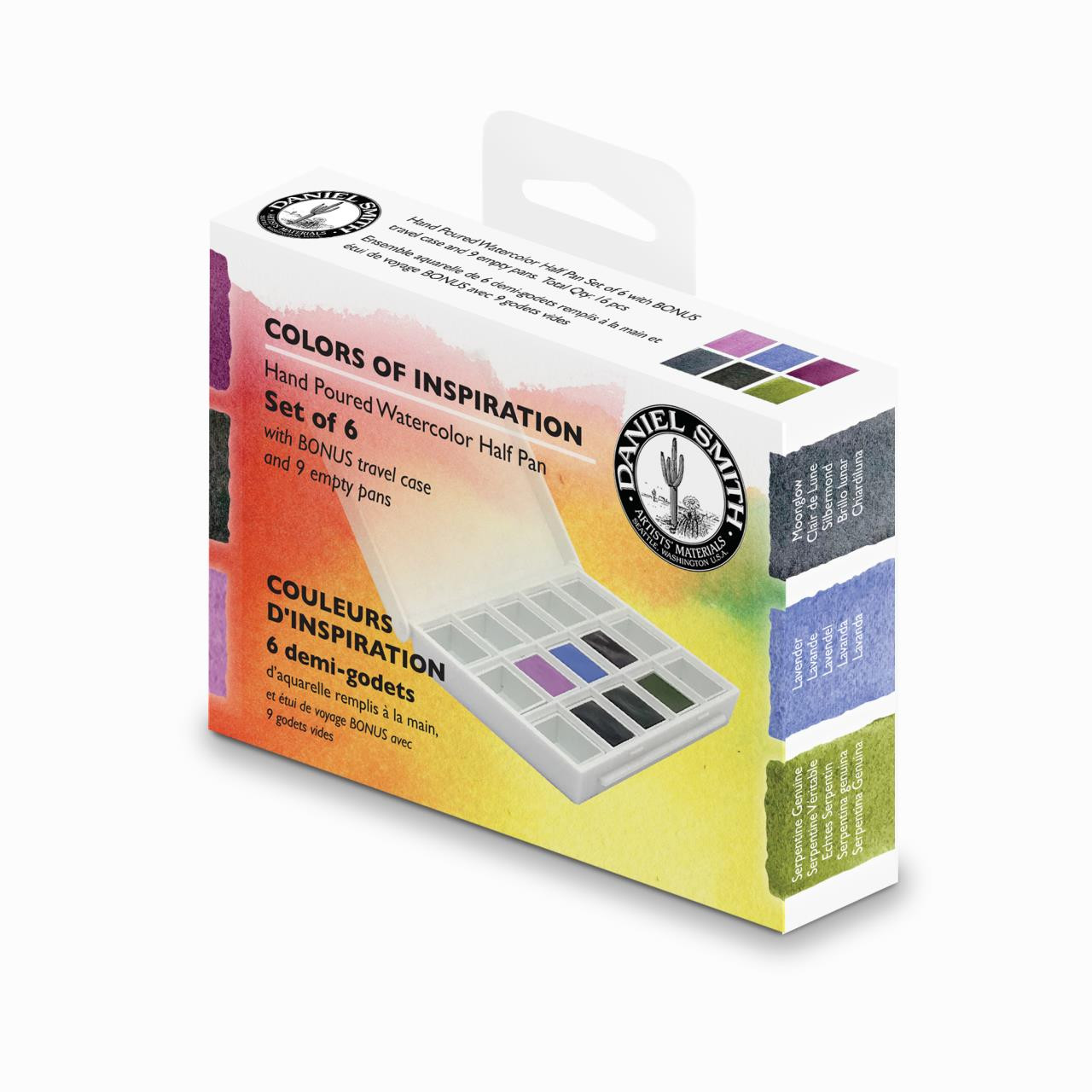 Colors of Inspiration, DANIEL SMITH Extra Fine Watercolors Half Pan Set - 743162034048