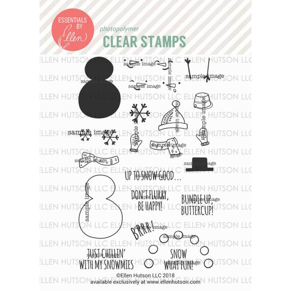 Snow Buds by Julie Ebersole, Essentials By Ellen Clear Stamps -