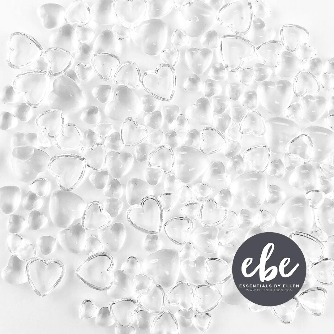 Crystal Clear Hearts, Essentials by Ellen Embellishments -