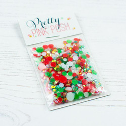 Holiday, Pretty Pink Posh Jewel Mix -