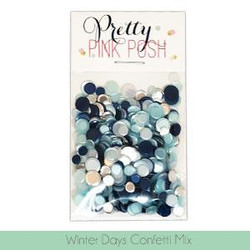 Winter Days, Pretty Pink Posh Confetti Mix -