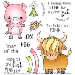 Year of The Pig Ox, Darcie's Clear Stamps -