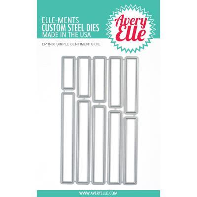 Simple Sentiments, Avery Elle-Ments Dies - 811568027213
