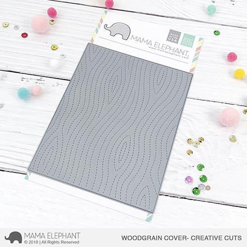 Woodgrain Cover, Mama Elephant Creative Cuts -