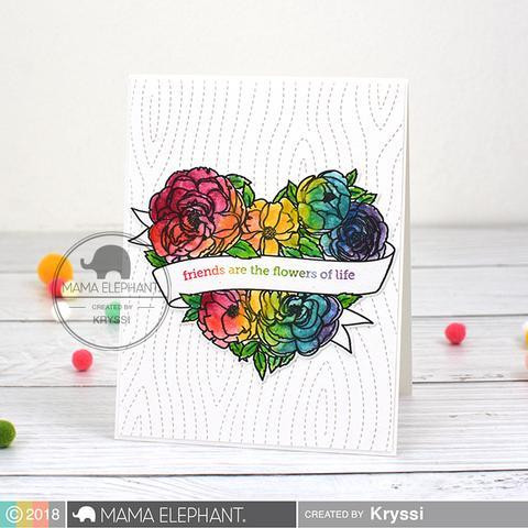 Heart In Bloom, Mama Elephant Clear Stamps -