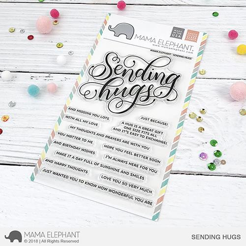 Sending Hugs, Mama Elephant Clear Stamps -