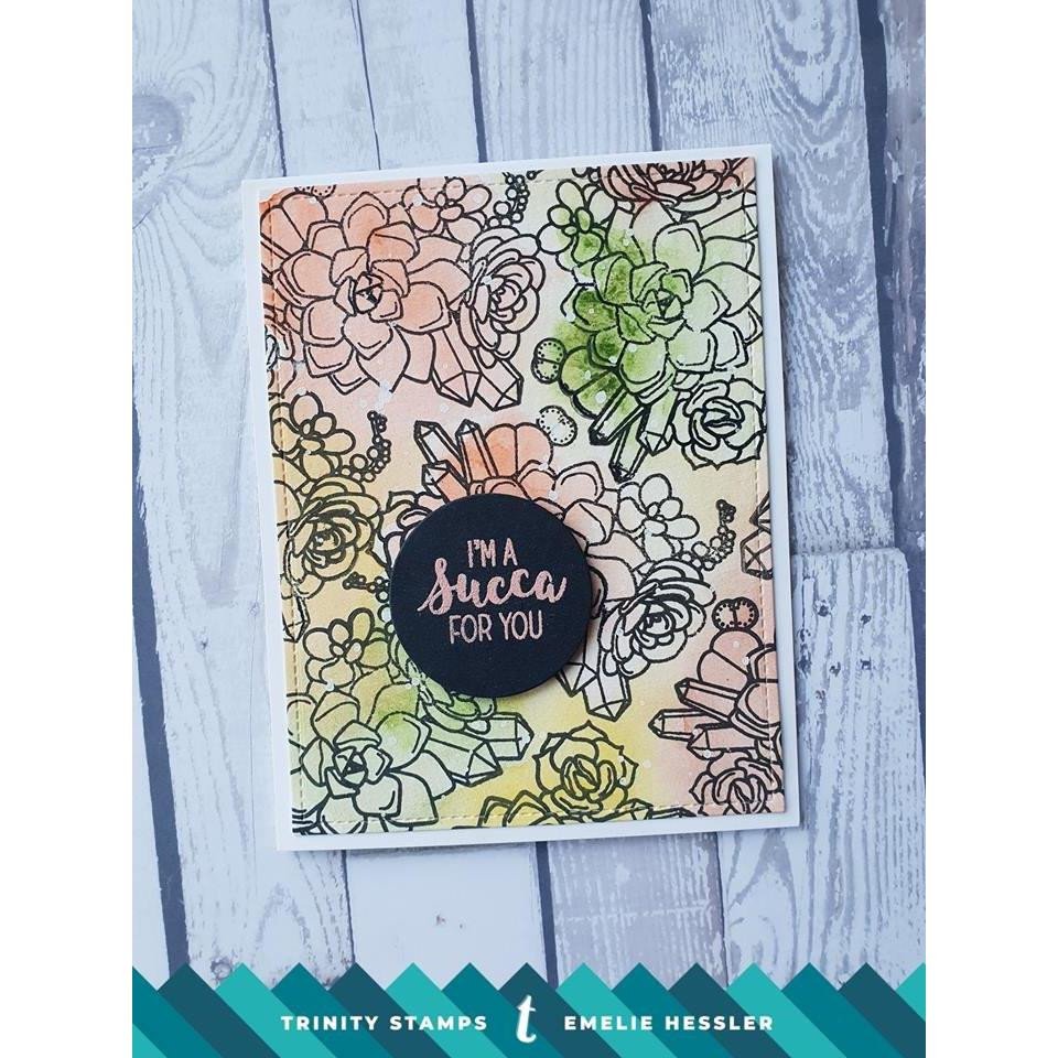 Let Love Grow, Trinity Stamps Clear Stamps -
