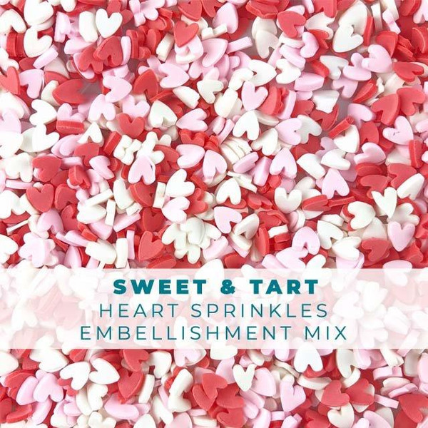 Sweet & Tart Candy Hearts, Trinity Stamps Embellishments -