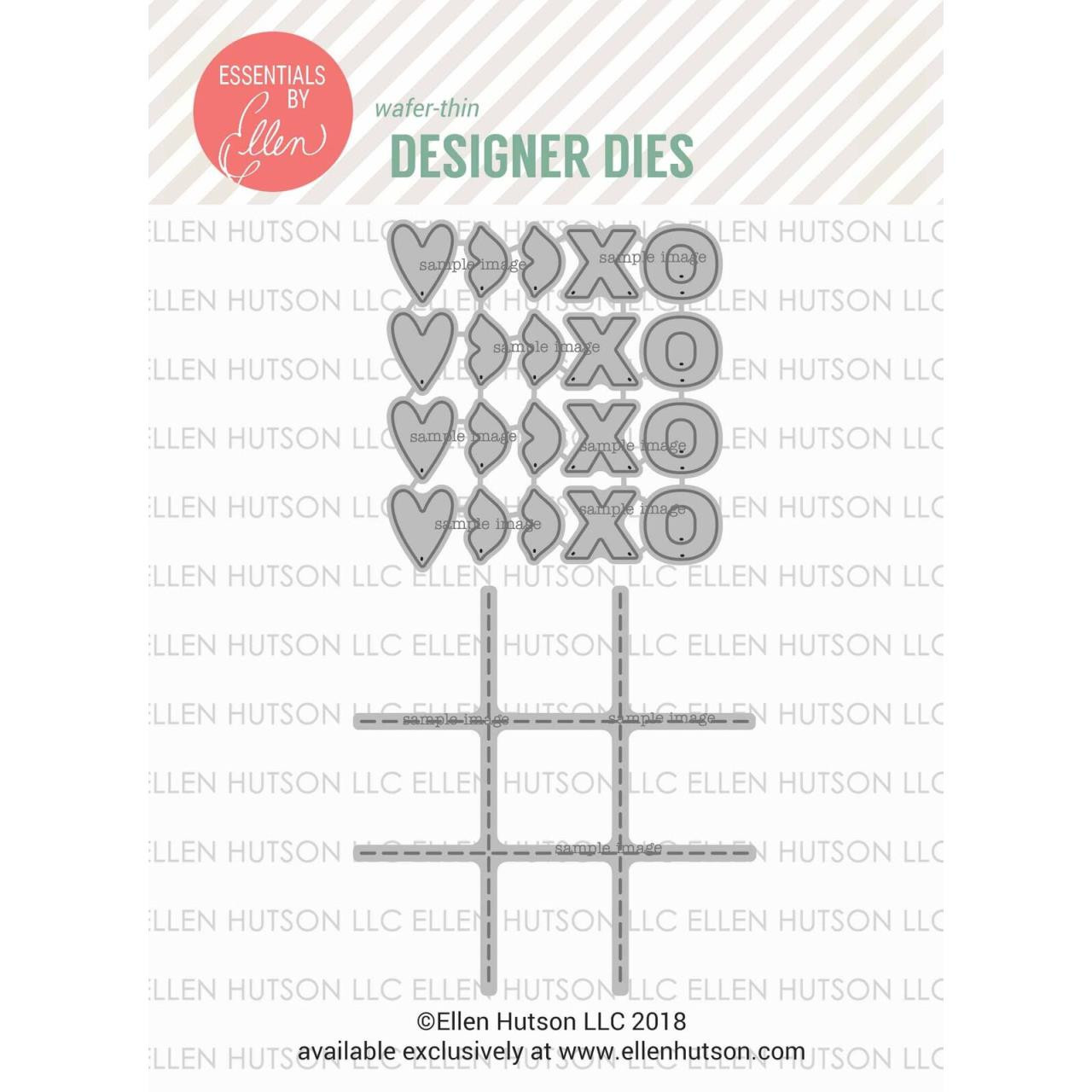 Confetti Kisses & Tic Tac Toe By Julie Ebersole, Essentials By Ellen Die Combo -
