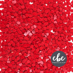 Tiny Red Heart Sequins, Essentials by Ellen Embellishments -