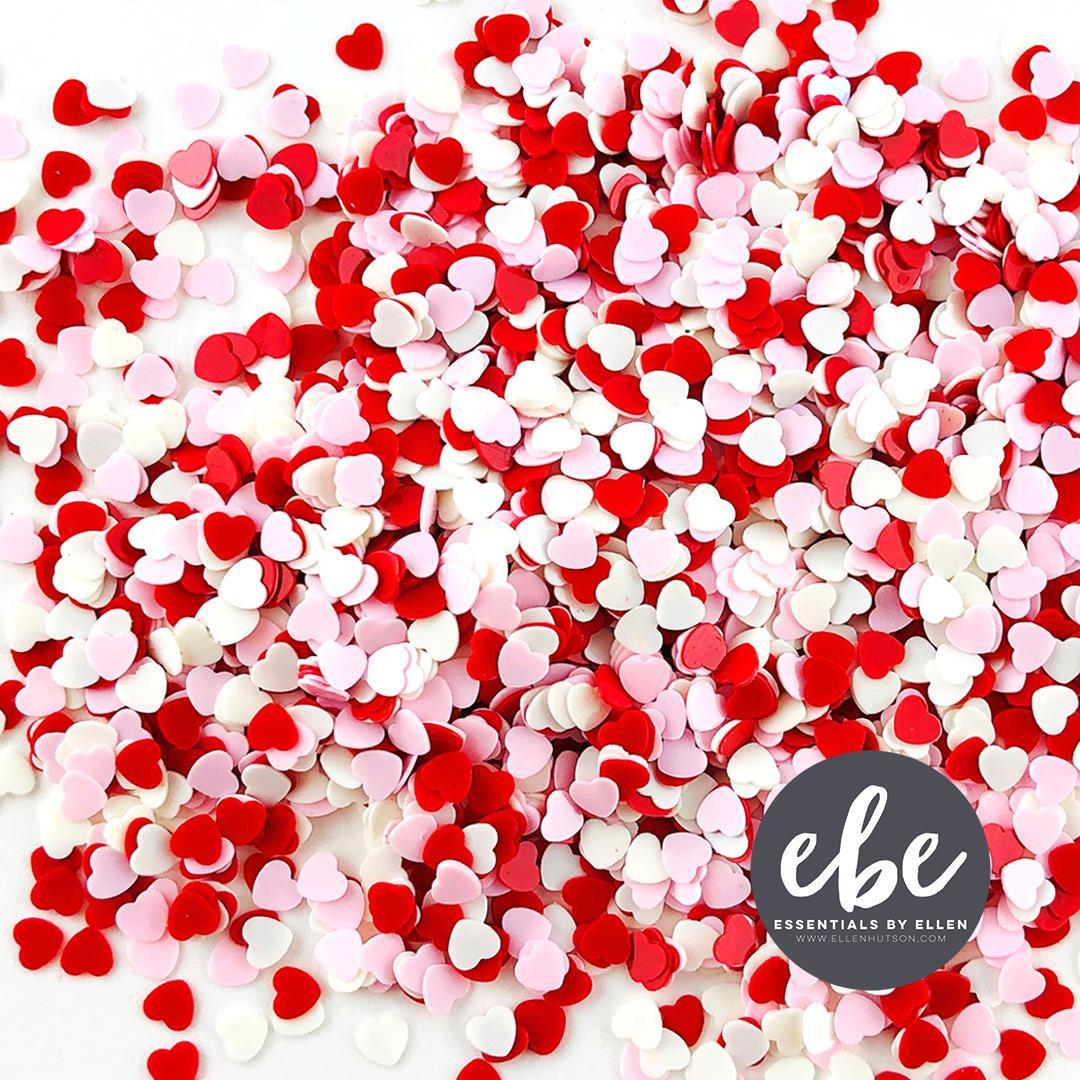 Tiny Hearts Valentine Sequin Mix, Essentials by Ellen Embellishments -
