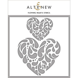 Flowing Hearts, Altenew Stencils - 704831295221