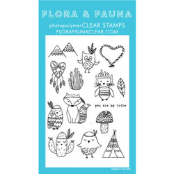 You Are My Tribe, Flora & Fauna Clear Stamps - 796258445303