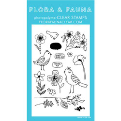 Bird Blossoms, Flora & Fauna Clear Stamps - 796258445327