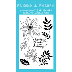 Happy Flowers, Flora & Fauna Clear Stamps - 796258445358