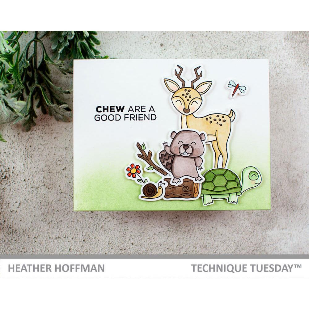 Beau & Beatrice Beaver - Animal House December 2018, Technique Tuesday Clear Stamps - 811784027318