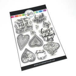 Doodle Hearts, Catherine Pooler Clear Stamps - 819447022793