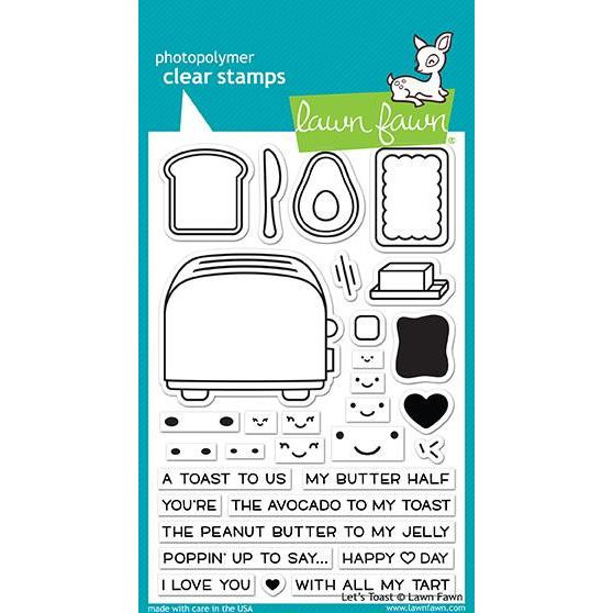 Let's Toast, Lawn Fawn Clear Stamps - 352926715224