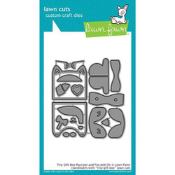 Tiny Gift Box Raccoon and Fox Add-On, Lawn Cuts Dies - 352926715774