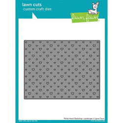 Polka Heart Backdrop: Landscape, Lawn Cuts Dies - 352926715156