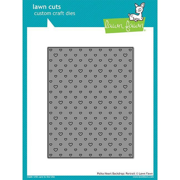Polka Heart Backdrop: Portrait, Lawn Cuts Dies - 352926715910