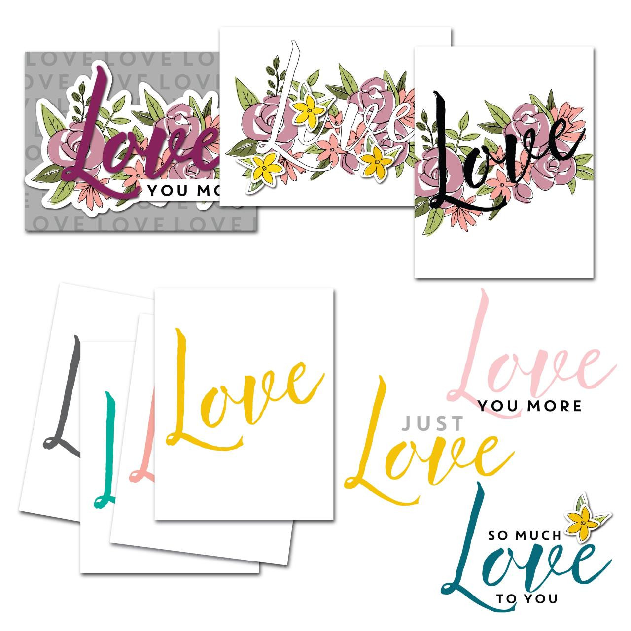 Just Love, Concord & 9th Clear Stamps - 902223996934