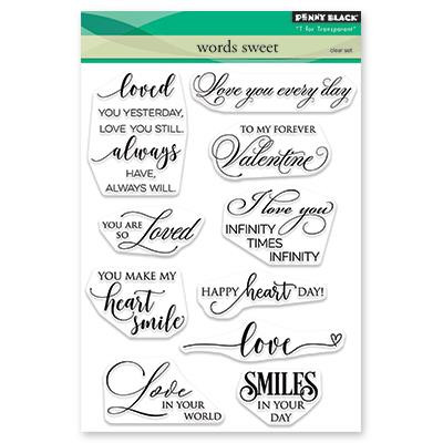 Words Sweet, Penny Black Clear Stamps - 759668305254