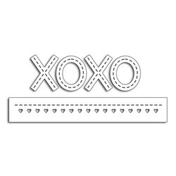 Stitched XOXO, Penny Black Dies - 759668514861
