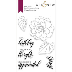 Wispy Begonia, Altenew Clear Stamps - 704831296297
