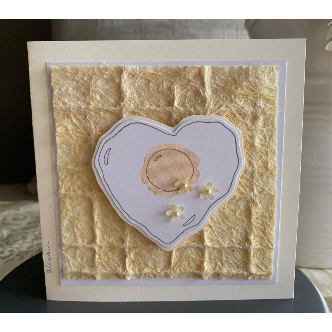 Heart Egg, Impression Obsession Cling Stamps -